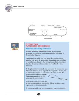 PHYSICS TALK PLATICANDO SOBRE FÍSICA Midiendo velocidad y