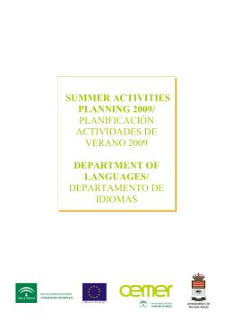 Actividades verano 2009 dpt Idiomas
