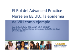 El Rol del Advanced PracOce Nurse en EE.UU
