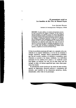 , El pensamiento social en Los bandidos de Río Frío - Inicio