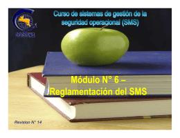 Reglamentación del SMS - Dirección General de Aviación Civil
