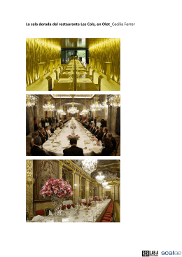 La sala dorada del restaurante Les Cols, en Olot_Cecilia Ferrer