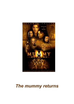 The mummy returns - Claseshistoria.com