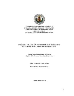 drácula tirano - Saber UCV - Universidad Central de Venezuela