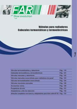 Válvulas para radiadores Cabezales termostáticos y termoeléctricos