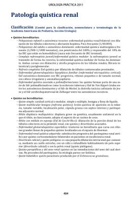 Patología quística renal