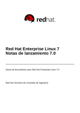 Red Hat Enterprise Linux 7 Notas de lanzamiento 7.0