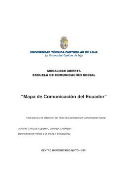 """Mapa de Comunicación del Ecuador"""