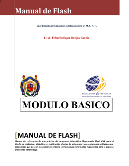 Manual de Flash - Coordinación General de Educación a Distancia
