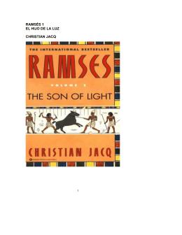 Christian Jacq – Ramses I El Hijo de la Luz
