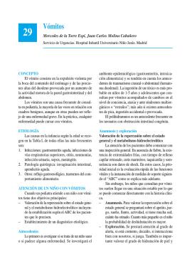 Vómitos - Asociación Española de Pediatría