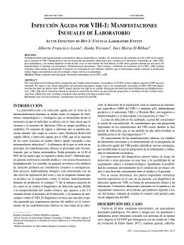 INFECCIÓN AGUDA POR VIH-1: MANIFESTACIONES INUSUALES