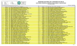 Vaqueros - Tribunal Electoral de la Provincia de Salta
