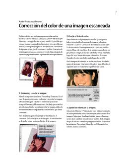 Corrección del color de una imagen escaneada