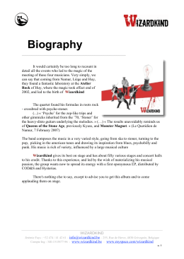 biography in English