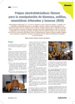 Pulpos electrohidráulicos Stemm para la manipulación de biomasa