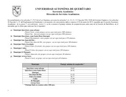 I N S C R I P C I O N E S - Universidad Autónoma de Querétaro
