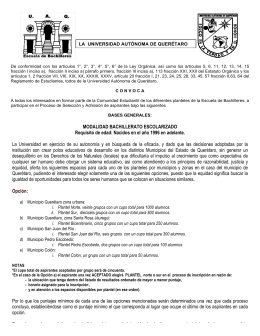 convocatoria para participar en el proceso de selección y admisión
