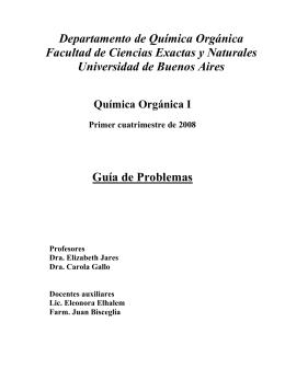 Guía de Problemas Departamento de Química Orgánica Facultad de