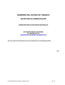 GOBIERNO DEL ESTADO DE TABASCO