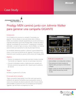 Case Study Prodigy MSN caminó junto con Johnnie Walker para
