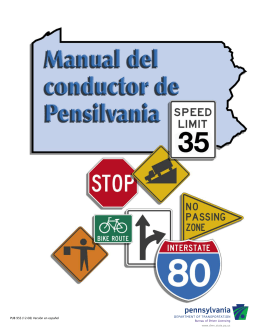 Manual Del Conductior De Pensilvania