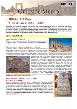 Jordania. Fin de Año Petra 27Dic