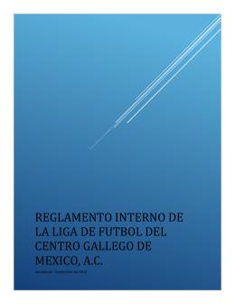 Reglamento interno de la liga de futbol del centro gallego de mexico