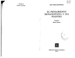 EL PENSAMIENTO RENACENTISTA Y SUS FUENTES