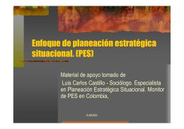 Enfoque de planeación estratégica situacional. (PES
