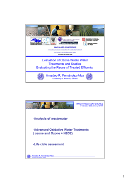 Evaluation of Ozone Waste Water Treatments and - IDAEA-CSIC