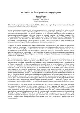 Método del Árbol - Asociación Española de Papiroflexia