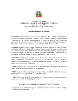 República Dominicana DIRECCION GENERAL DE IMPUESTOS