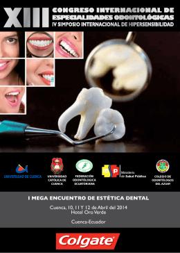 I MEGA ENCUENTRO DE ESTÉTICA DENTAL Cuenca, 10, 11 Y 12