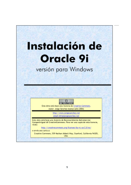 Guía de instalación de Oracle 9i