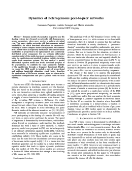 Dynamics of heterogeneous peer-to-peer networks