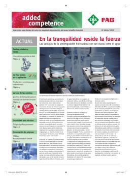 added competence: Una revista para clientes del