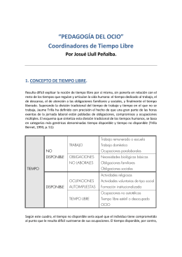 """""""PEDAGOGÍA DEL OCIO"""" Coordinadores de Tiempo Libre"""