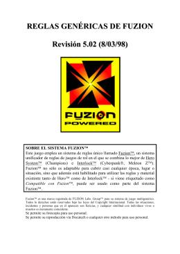 REGLAS GENÉRICAS DE FUZION Revisión 5.02 (8