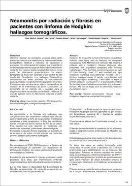 Neumonitis por radiación y fibrosis en pacientes con linfoma de