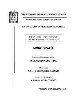 Proceso de certificación bajo la norma ISO 900012000