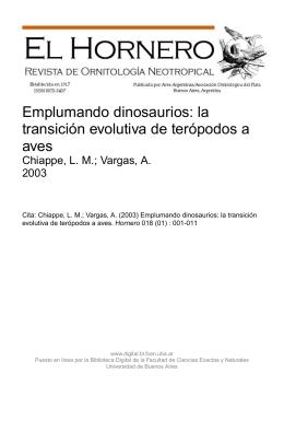 Emplumando dinosaurios: la transición evolutiva de terópodos