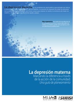 La depresión materna - Mental Health America