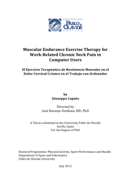Muscular Endurance Exercise Therapy for Work