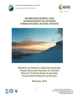 PNN Los Nevados descripción