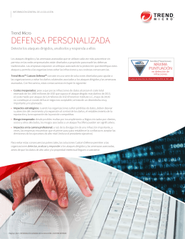 DEFENSA PERSONALIZADA