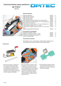 Instrucciones para pulsera de Fimo®