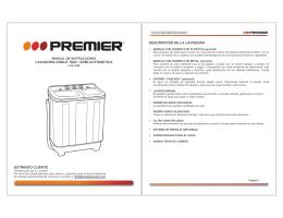 lavadora doble tina / semi-automática estimado cliente