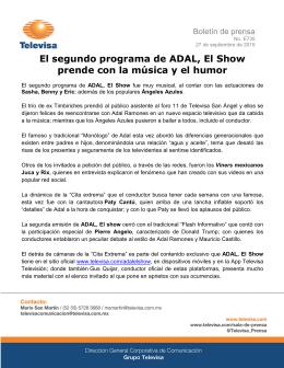 El segundo programa de ADAL, El Show prende con la música y el