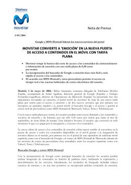 Nota de Prensa MOVISTAR CONVIERTE A